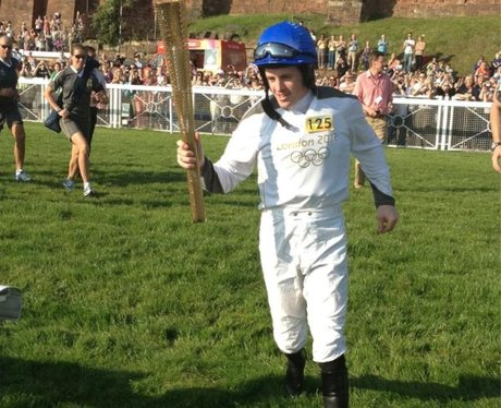 The Torch finally arrives at the Racecourse
