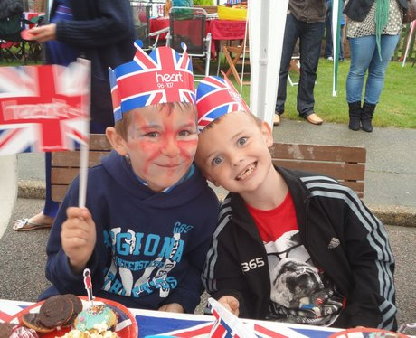 Jubilee party in Burgess Road, Aylesham