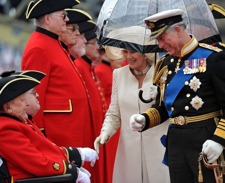 Prince Charles and Camilla greet Chelsea pensioners