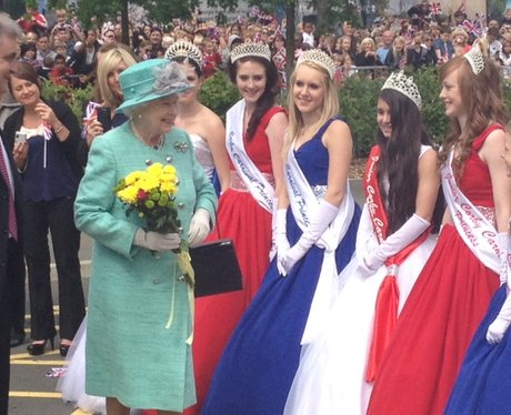 Queen Visiting Corby