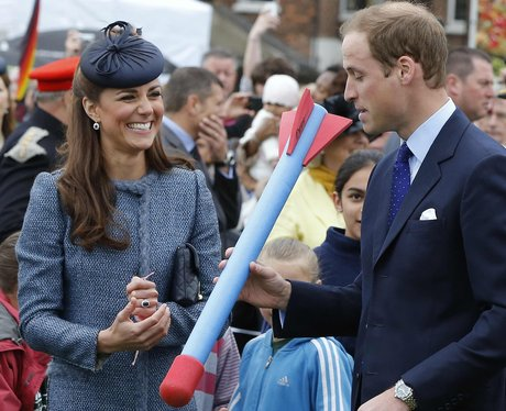Prince William throws a javelin
