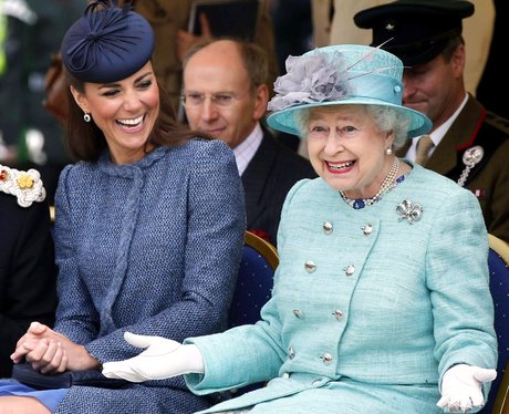 The Queen and Kate Middleton share a joke