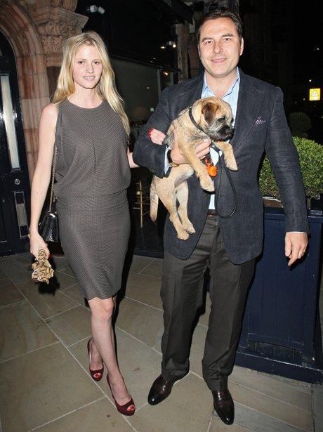 David Williams and Lara Stone with dog Bert