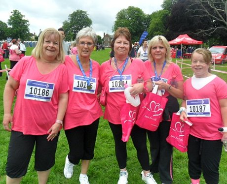 Lovely ladies running The Race for Life in Northam