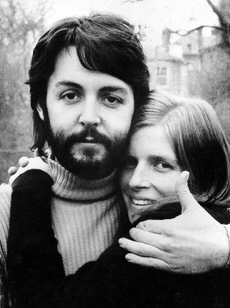 Paul McCartney with wife Linda