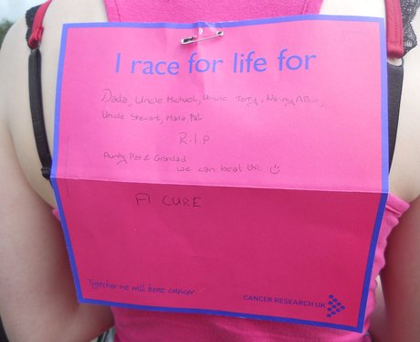 Race For Life: Wrexham Messages