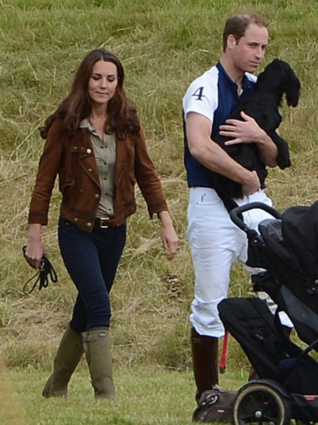 The Duke and Duchess of Cambridge with Dog Lupo