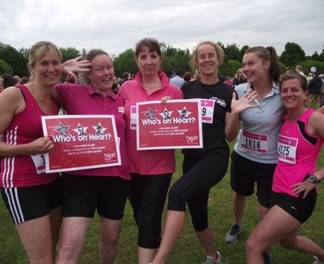 Who IS on Heart? at Basingstoke Race for Life