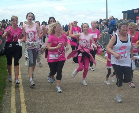 Herne Bay Race For Life - Crossing the finish line