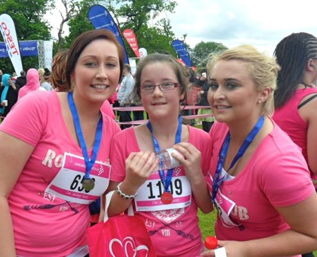 Luton 5K Race for Life - at the finish line