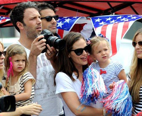Ben Affleck, Jennifer Garner and daughter Seraphina Affleck