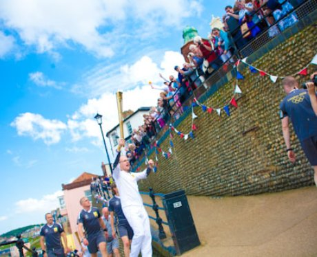 Cromer Seafront Welcomes The Olympic Torch Relay