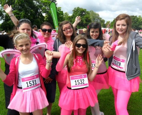 Lovely Ladies in Pink at Bedford Race for Life
