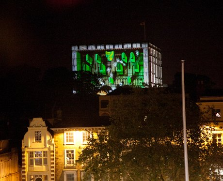 Norwich Castle 3D Display for the Olympic Torch