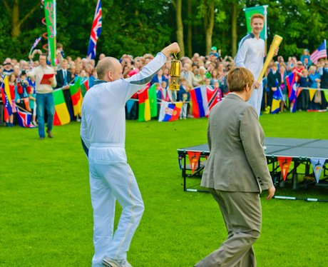 Olympic Flame at Hethersett High School