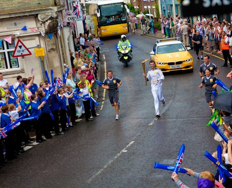 Olympic Torch passes through Saxmundham