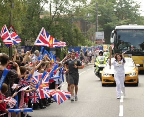 Olympic Torch Passes Through Southwold and Reydon