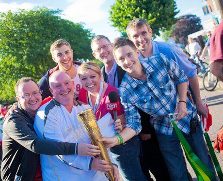 The Heart Team with the Olympic Torch