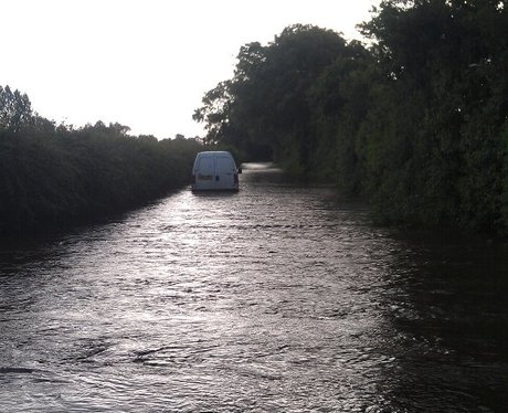Flooding in Dorset- near Sturminster Newton