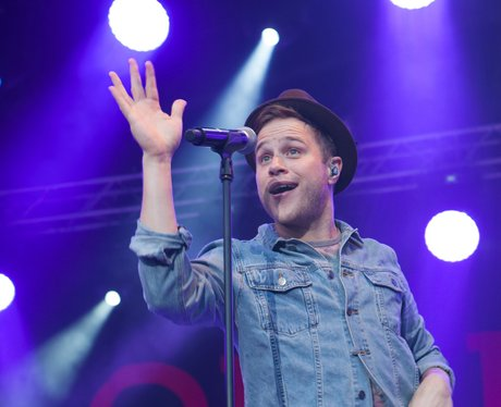 Olly Murs performs on stage at Luton Live 2012