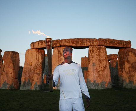 Olympic Torch at Stonehenge