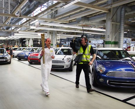 Olympic Torch At Bmw Mini In Oxford Olympic Flame July 9th