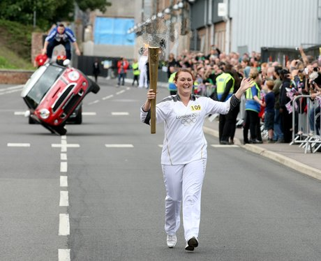 Olympic Torch in Oxford