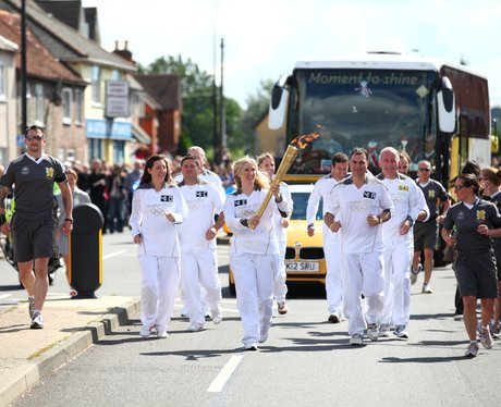 Olympic Torch in Reading and Theale