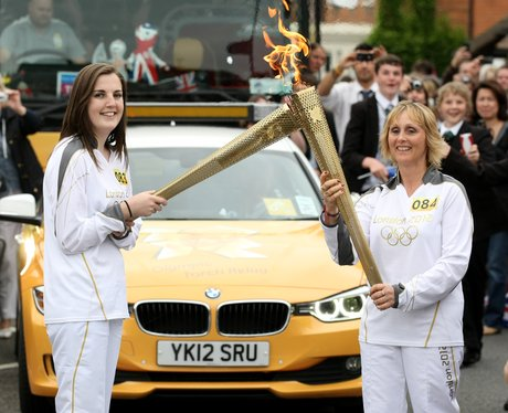 Olympic Torch Relay Waddesdon.