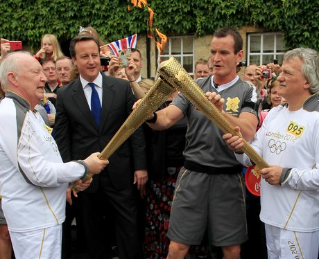 Olympic Torch Relay Woodstock, West Oxfordshire.