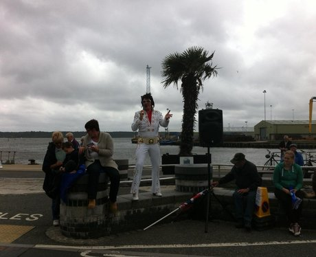 The Olympic Torch in Poole Quay