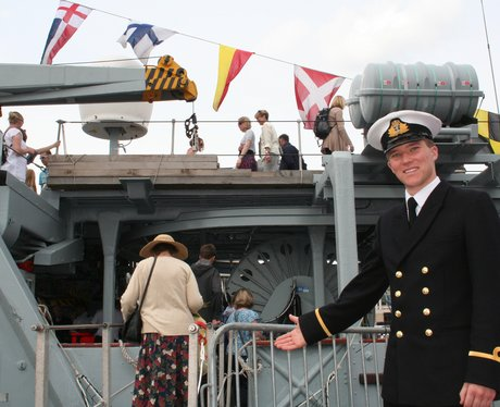 Captain welcomes you aboard for Bristol Harbour Fe
