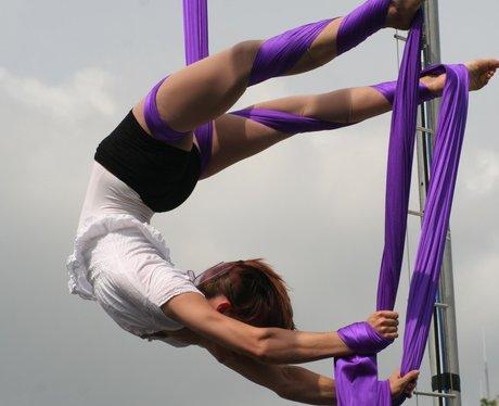 Circus acrobats at Bristol Harbour Festival