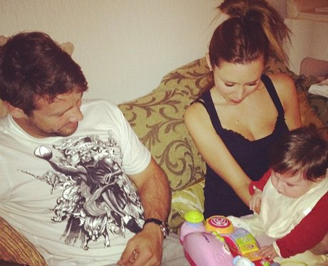 Una Healy and Ben Foden with their daughter
