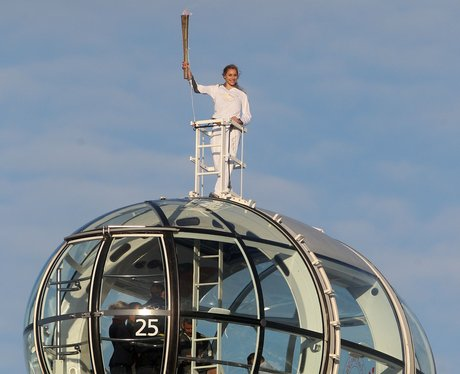 Olympic Torch at the London Eye