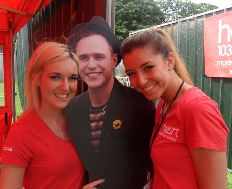 The lovely supporters at Olly Murs!