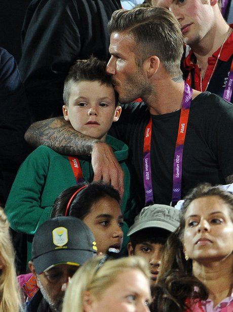 David Beckham and Cruz Beckham