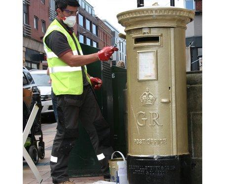 Golden Postbox