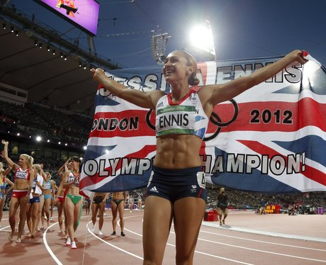 Jessica Ennis wins the heptathlon