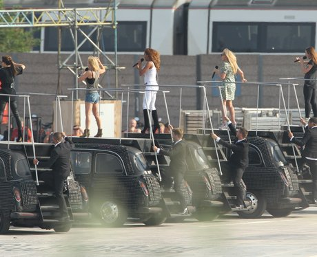 Spice Girls Rehearsing for the Olympics Closing Ce
