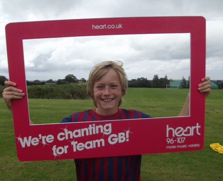 Team GB chant at Wast Hills with Curtis Davies