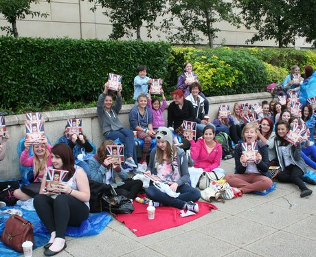Fans armed with books