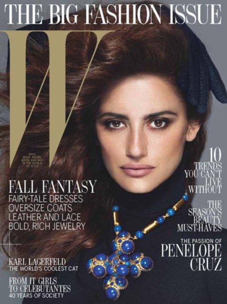 W Magazine Cover: Penelope Cruz