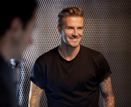 David Beckham with a quiff