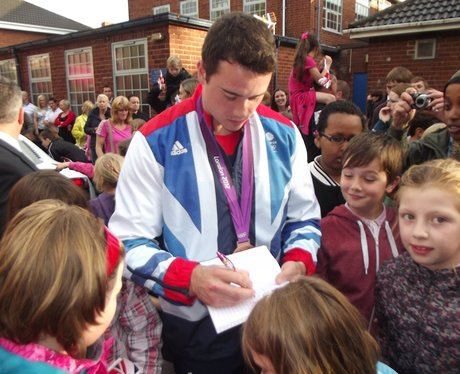 Kristian Thomas Olympic Medalist homecoming