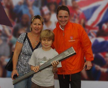 Paralympic torch at Sainsbury's, Farlington