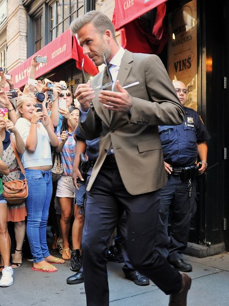 David Beckham Leaving Balthazar Restaurant