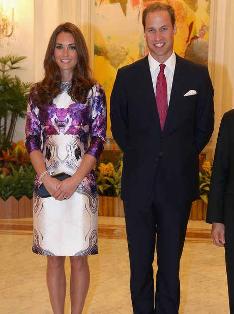 Duke and Duchess Of Cambridge strike a pose on their tour of the Far East