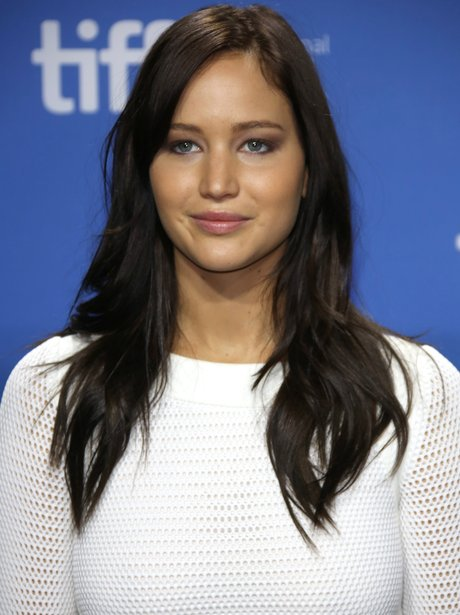 Jennifer Lawrence with dark brown hair