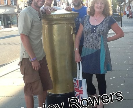 Paula From MK Visits Golden Post Boxes